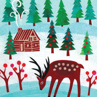 Allport Editions Deer and Cabin Holiday Boxed Notes