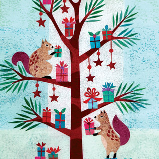 Allport Editions Squirrel Gifts Holiday Boxed Notes