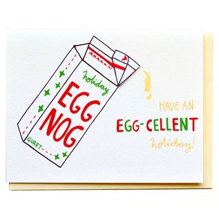 Cracked Designs Holiday Card - Egg-cellent