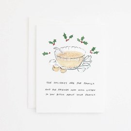 Party Sally Holiday Card - Eggnog