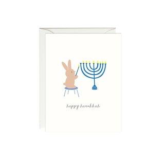 Paula & Waffle Holiday Card - Hanukkah Bunny