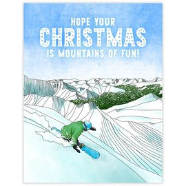 Waterknot Holiday Card - Snowboard Christmas