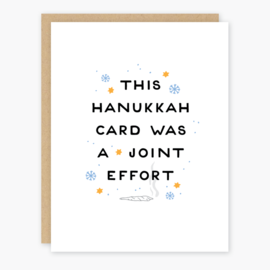 Party of One Holiday Card - Hanukkah Joint Effort