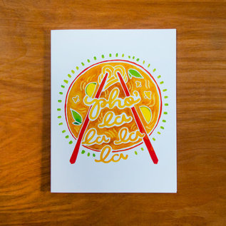 Pretty Bird Paper Co. Holiday Card - Pho La La La La