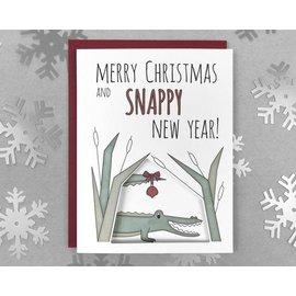 Shoji Note Holiday Card - Alligator