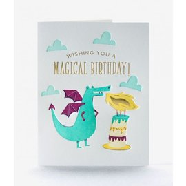 Elum Birthday Card - Dragon Candle