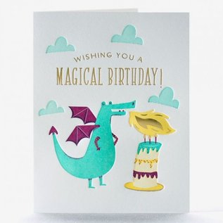 Elum Birthday Card - Dragon Candle