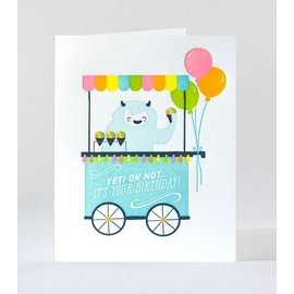 Elum Birthday Card - Yeti or Not