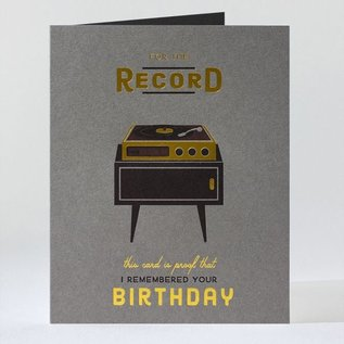 Elum Birthday Card - For The Record
