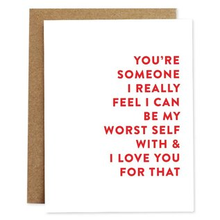 Rhubarb Paper Co. Greeting Card - Worst Self