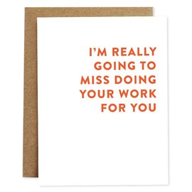 Rhubarb Paper Co. Farewell Card - Work For You