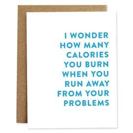 Rhubarb Paper Co. Greeting Card - Calories