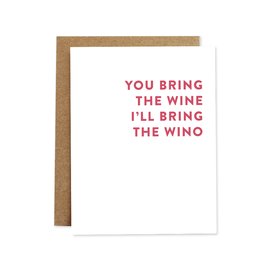 Rhubarb Paper Co. Greeting Card - Wino