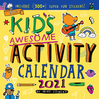 Workman Publishing Kid's Awesome Activity 2021 Wall Calendar