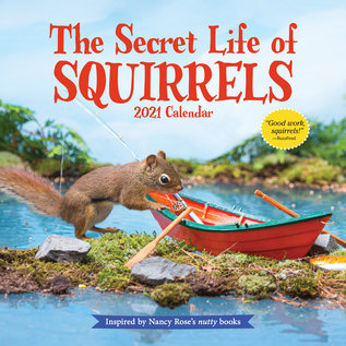 Workman Publishing Secret Life of Squirrels 2021 Wall Calendar
