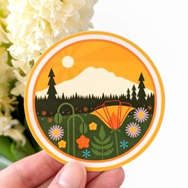 Amber Leaders Mt. Rainier Sticker