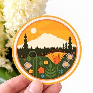 Amber Leaders Mt. Rainier Sticker