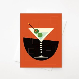 Amber Leaders Greeting Card - Martini