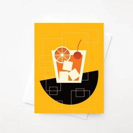 Amber Leaders Greeting Card - Old Fashioned