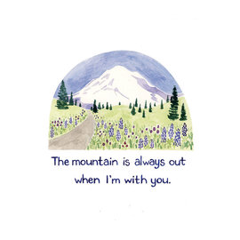 Yardia The Mountain is Out Art Print