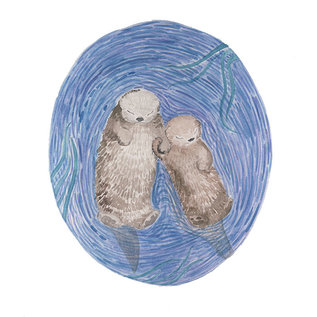 Yardia Otters Art Print