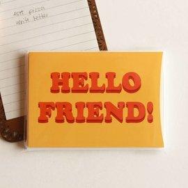 The Avera Boutique Hello Friend 70s Retro Notes