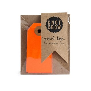Knot & Bow Colorful Parcel Tags