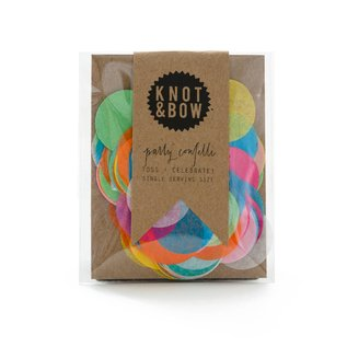 Knot & Bow Round Rainbow Tiny Confetti