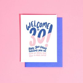 Craft Boner Birthday Card - Welcome to Your 30s