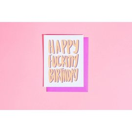 Craft Boner Birthday Card - Happy Fucking Birthday
