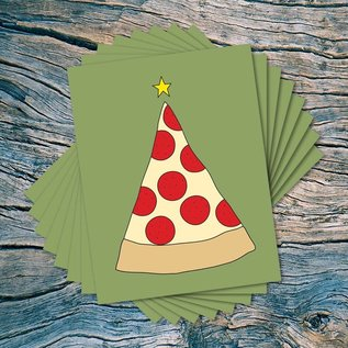 Near Modern Disaster Pizza Tree Holiday Boxed Notes