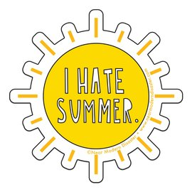 Near Modern Disaster Sticker - I Hate Summer