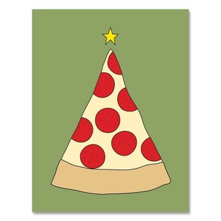 Near Modern Disaster Holiday Card - Pizza Tree
