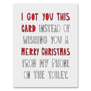 Near Modern Disaster Holiday Card - Christmas Toilet