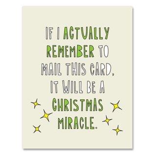 Near Modern Disaster Holiday Card - Christmas Miracle