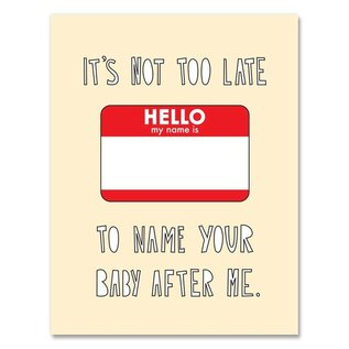 Near Modern Disaster Baby Card - Named After Me