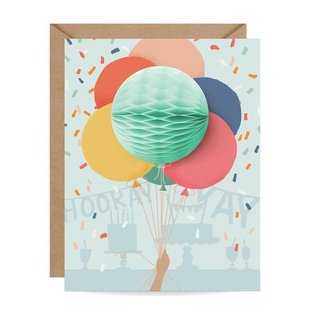 Inklings Paperie Birthday Card - Balloon Bunch Pop-up