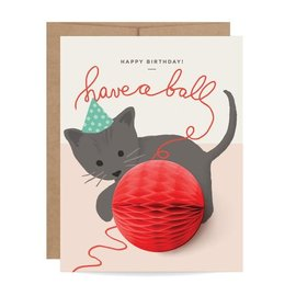 Inklings Paperie Birthday Card - Kitten Pop-up