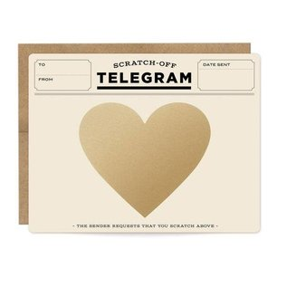 Inklings Paperie Love Card - Telegram Scratch Off
