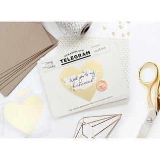 Inklings Paperie Encouragement Card - Telegram Scratch Off