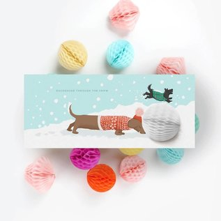 Inklings Paperie Holiday Card - Dachshund Pop-up