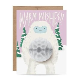 Inklings Paperie Holiday Card - Yeti Pop-up