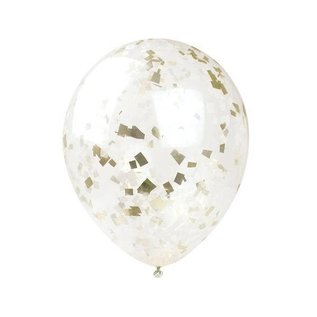 Inklings Paperie Gold Confetti Balloons