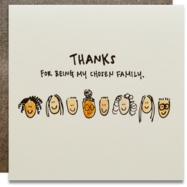 Kwohtations Greeting Card - Chosen Family