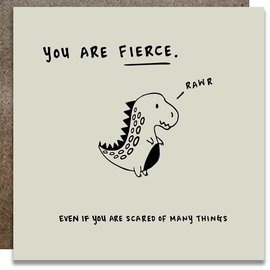 Kwohtations Encouragement Card - You Are Fierce