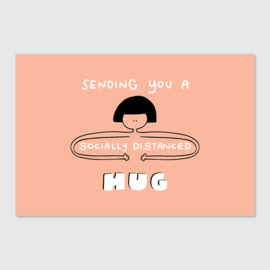 Kwohtations Postcard - Socially Distanced Hug
