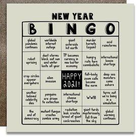 Kwohtations Holiday Card - New Year Bingo