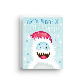 Nicole Marie Paperie Holiday Card - Yeti and Bright