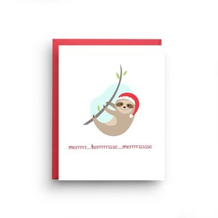 Nicole Marie Paperie Holiday Card - Sloth