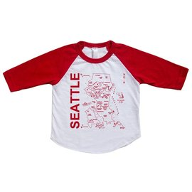 Maptote Seattle Map Baseball Tee